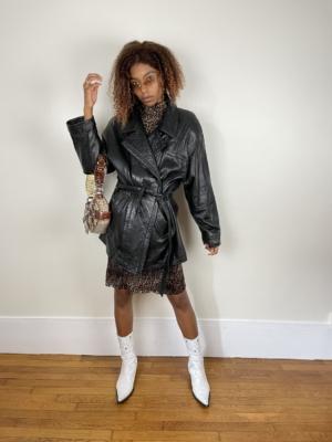 Veste en cuir style perfecto